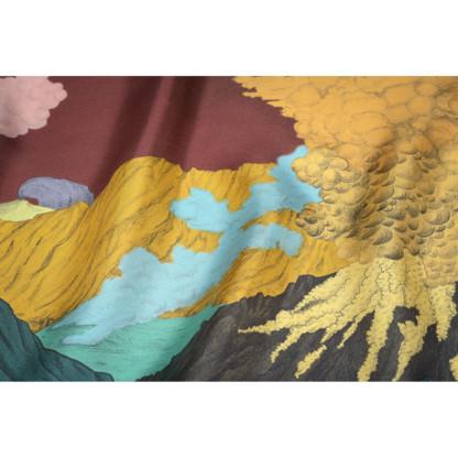 Détail foulard Volcans prune de Céline Dominiak