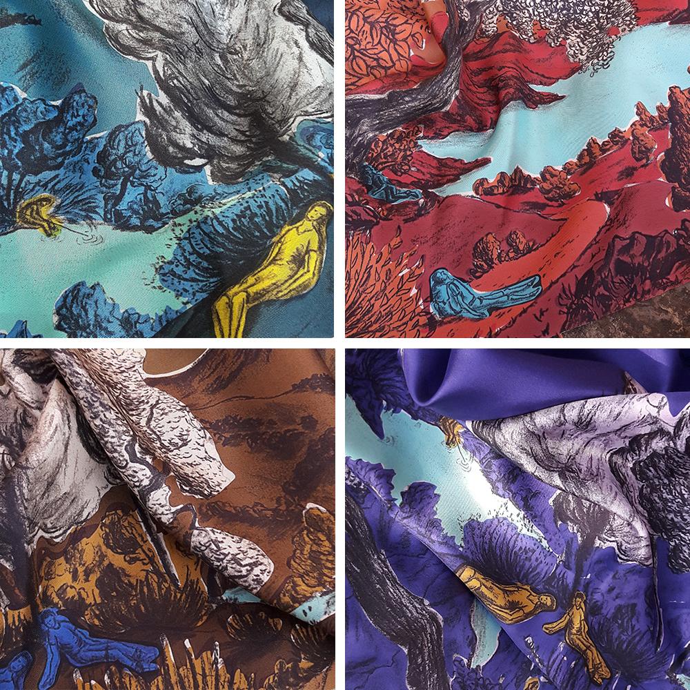 4 coloris foulards Dormeurs (foncés et monochromes)