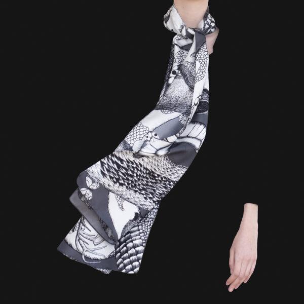 Foulard Animalis L Noir Blanc Taille L