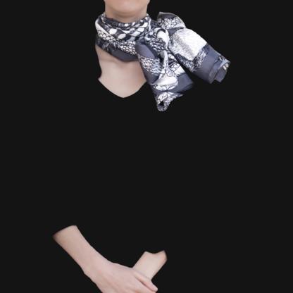 Foulard Animalis Noir Blanc Taille L