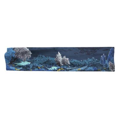 Vue entière foulard twill de soie Dormeurs Bleu