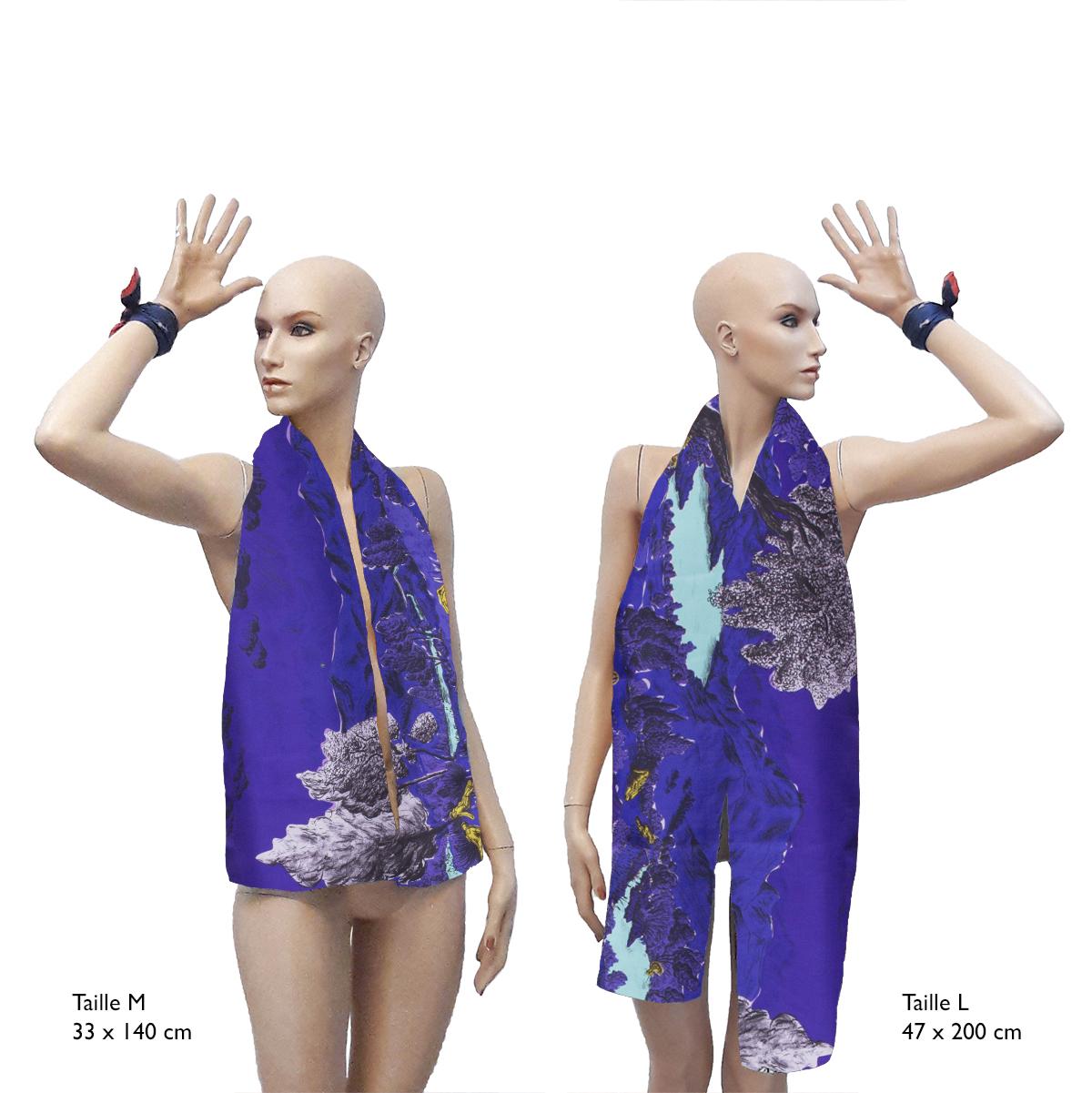 Foulards Tailles M et L Collections Dormeurs Violet