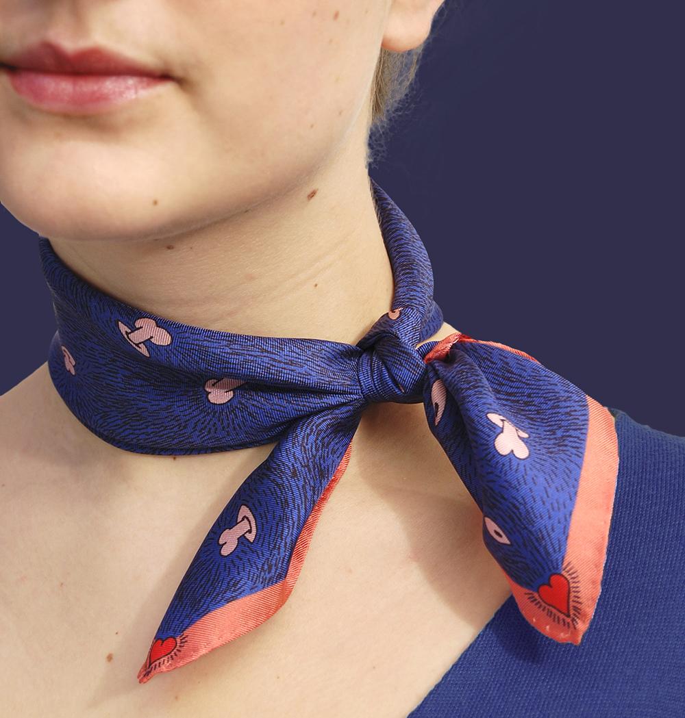 Foulard porté bandana soie Z _ _I / Céline Dominiak
