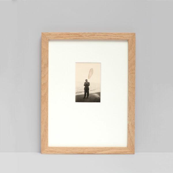 Collage #56 sur photographie noir et blanc encadré