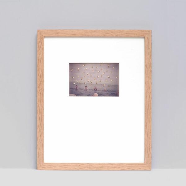 Collage #60 sur photographie couleur encadré