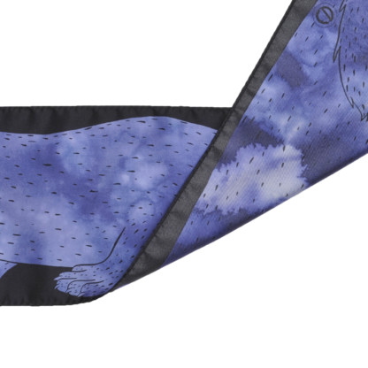 Foulard en soie Céline Dominiak vison bleu noir- verso