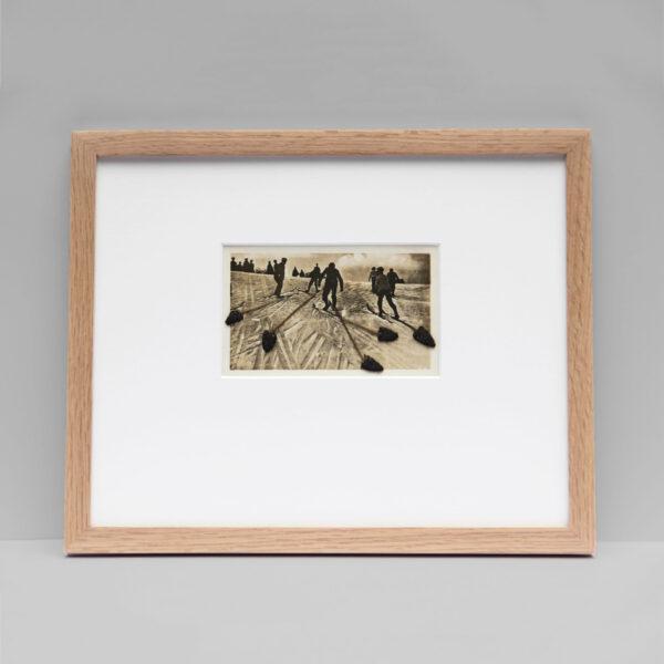 Collage #43 sur photographie noir et blanc encadré