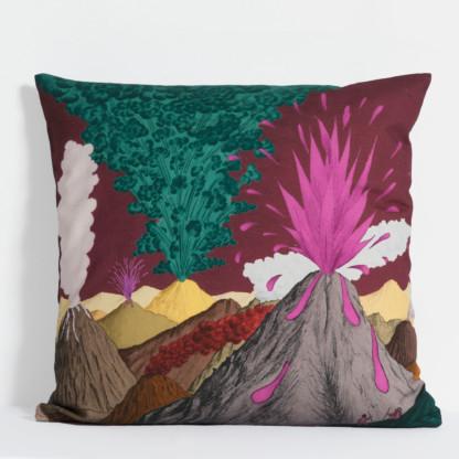 Housse de coussin Volcan prune - Céline Dominiak