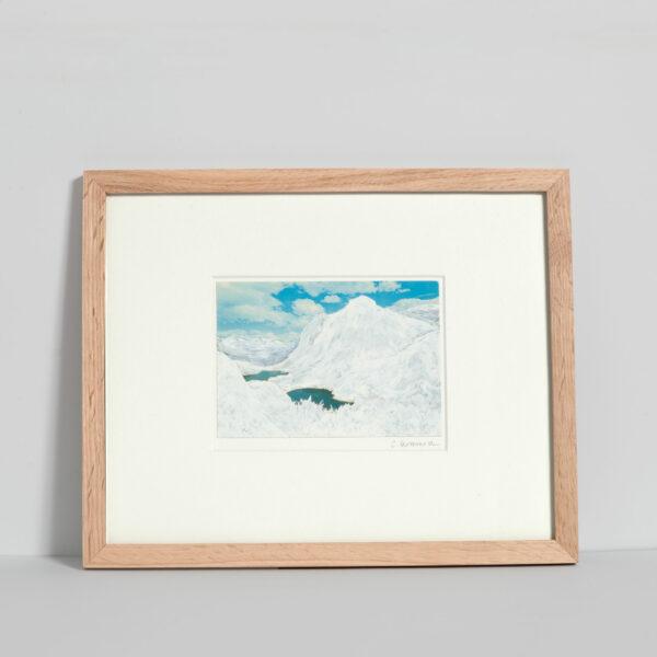 Dessin sur carte postale Calmes blancs 2 de Céline Dominiak