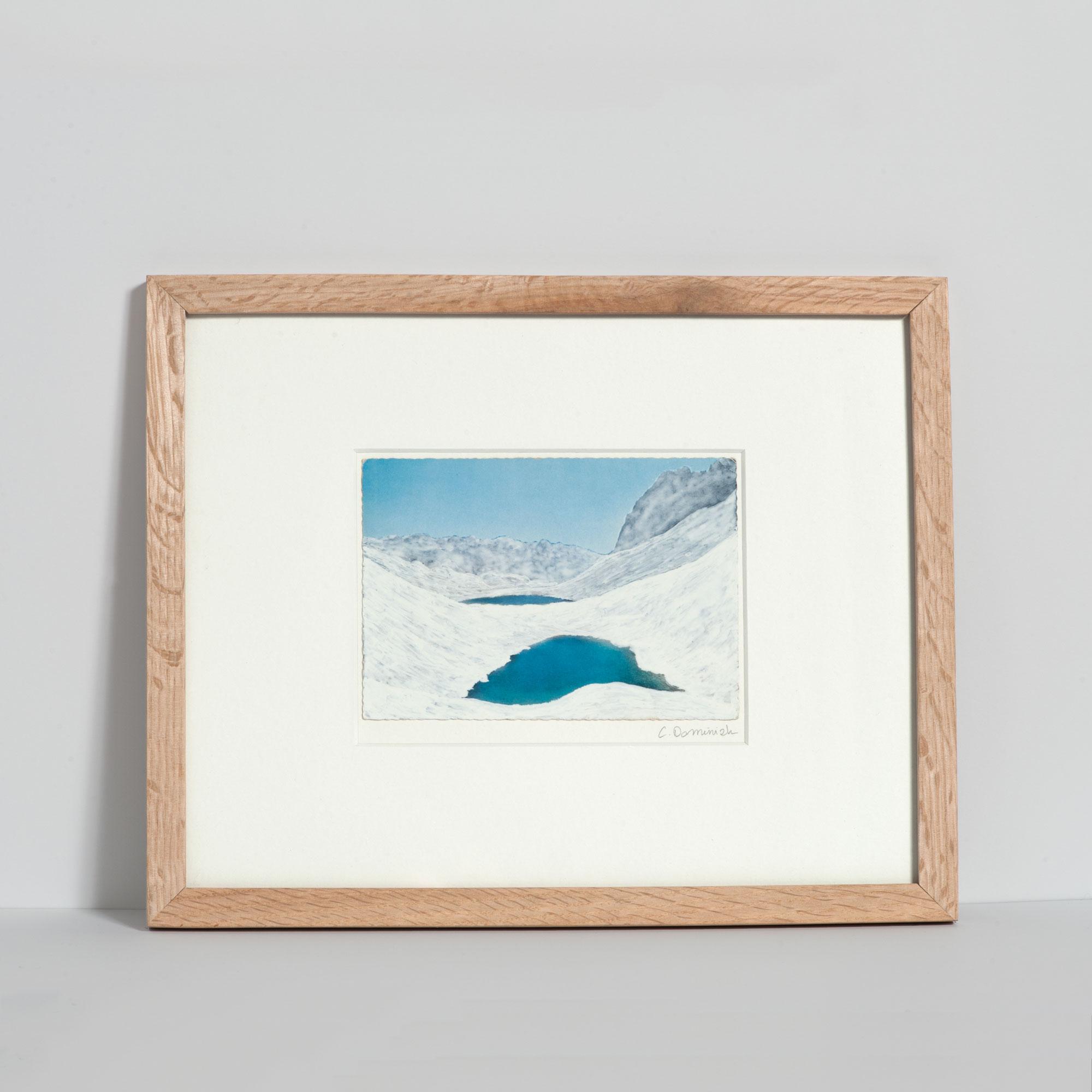 Dessin sur carte postale Calmes blancs 3 de Céline Dominiak