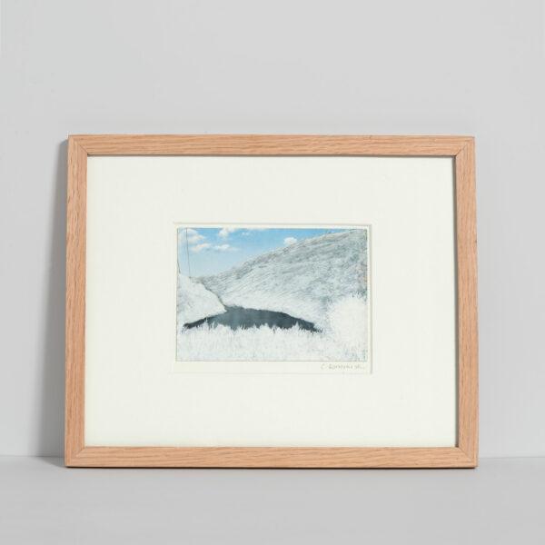 Dessin sur carte postale Calmes blancs 4 de Céline Dominiak