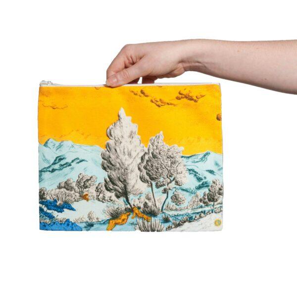 Pochette collection Dormeurs jaune/bleu Céline Dominiak, taille L, recto