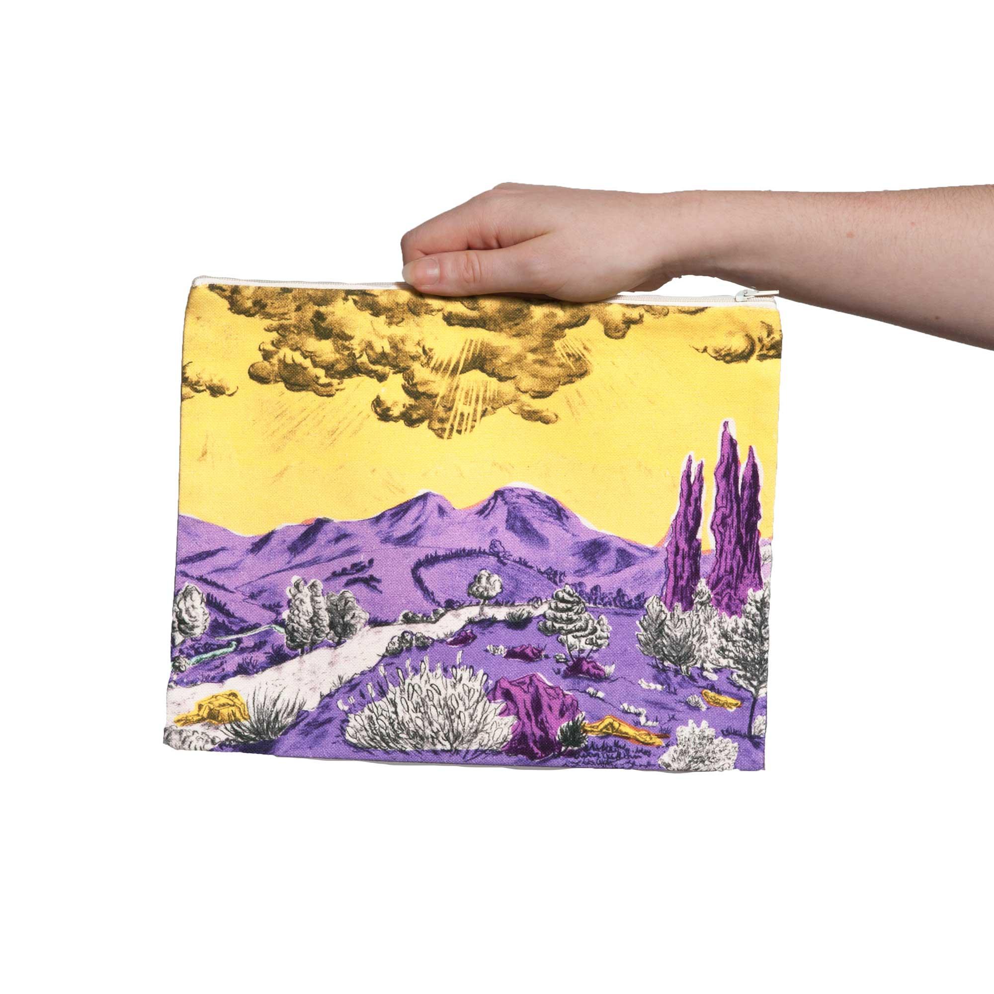 Pochette collection Dormeurs jaune/violet Céline Dominiak, tailles L, recto