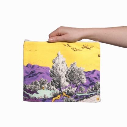 Pochette collection Dormeurs jaune/violet Céline Dominiak, tailles L, verso