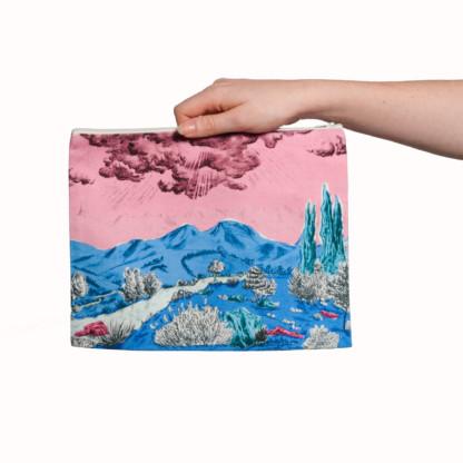 Pochette collection Dormeurs rose bleu Céline Dominiak, tailles L, verso