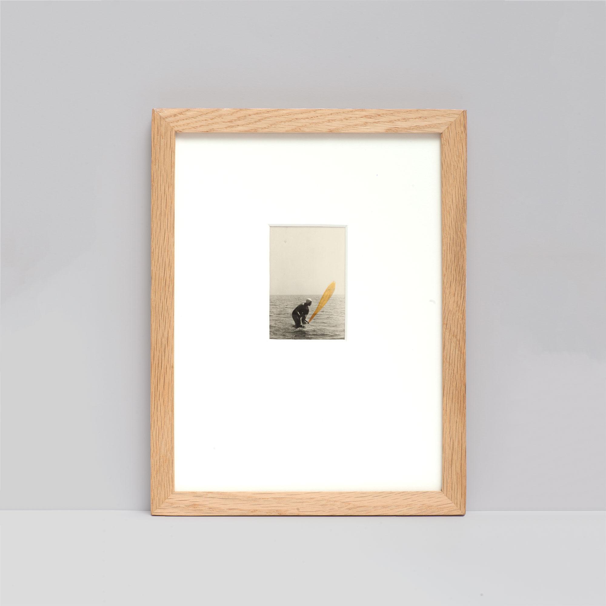 Collage #52 sur photographie noir et blanc encadré