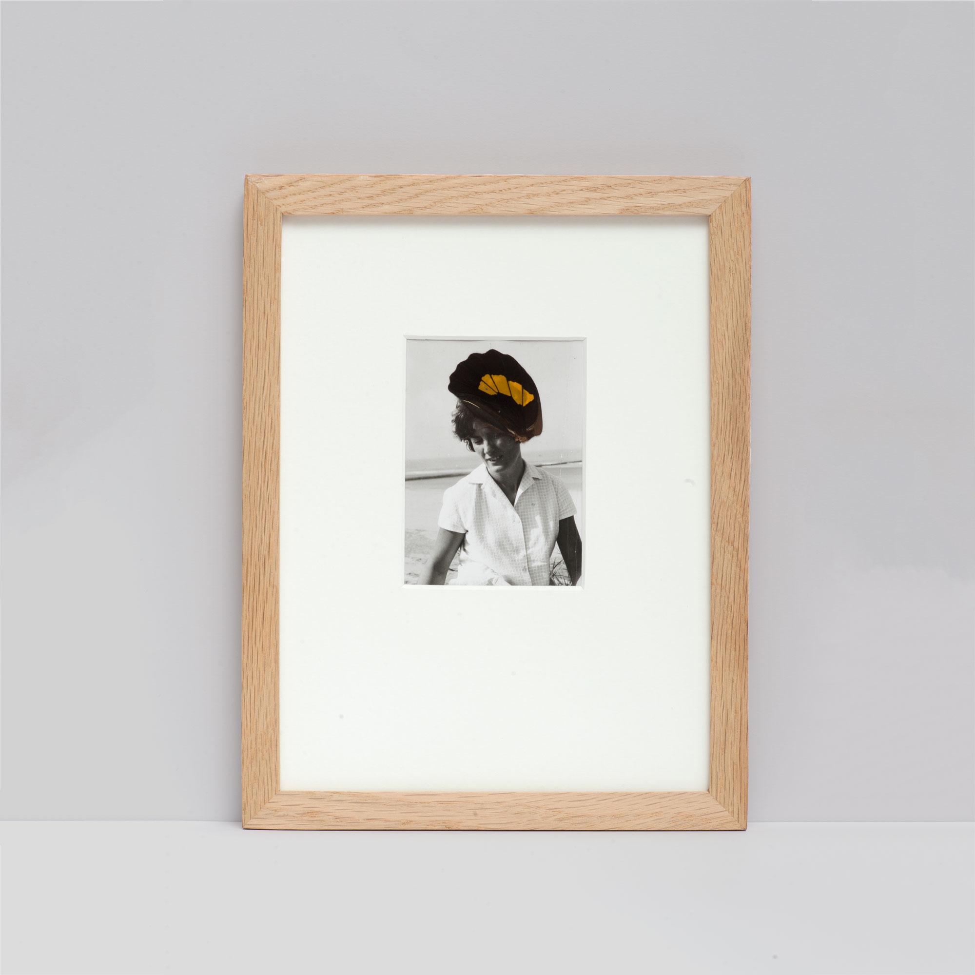 Collage #53 sur photographie noir et blanc encadré