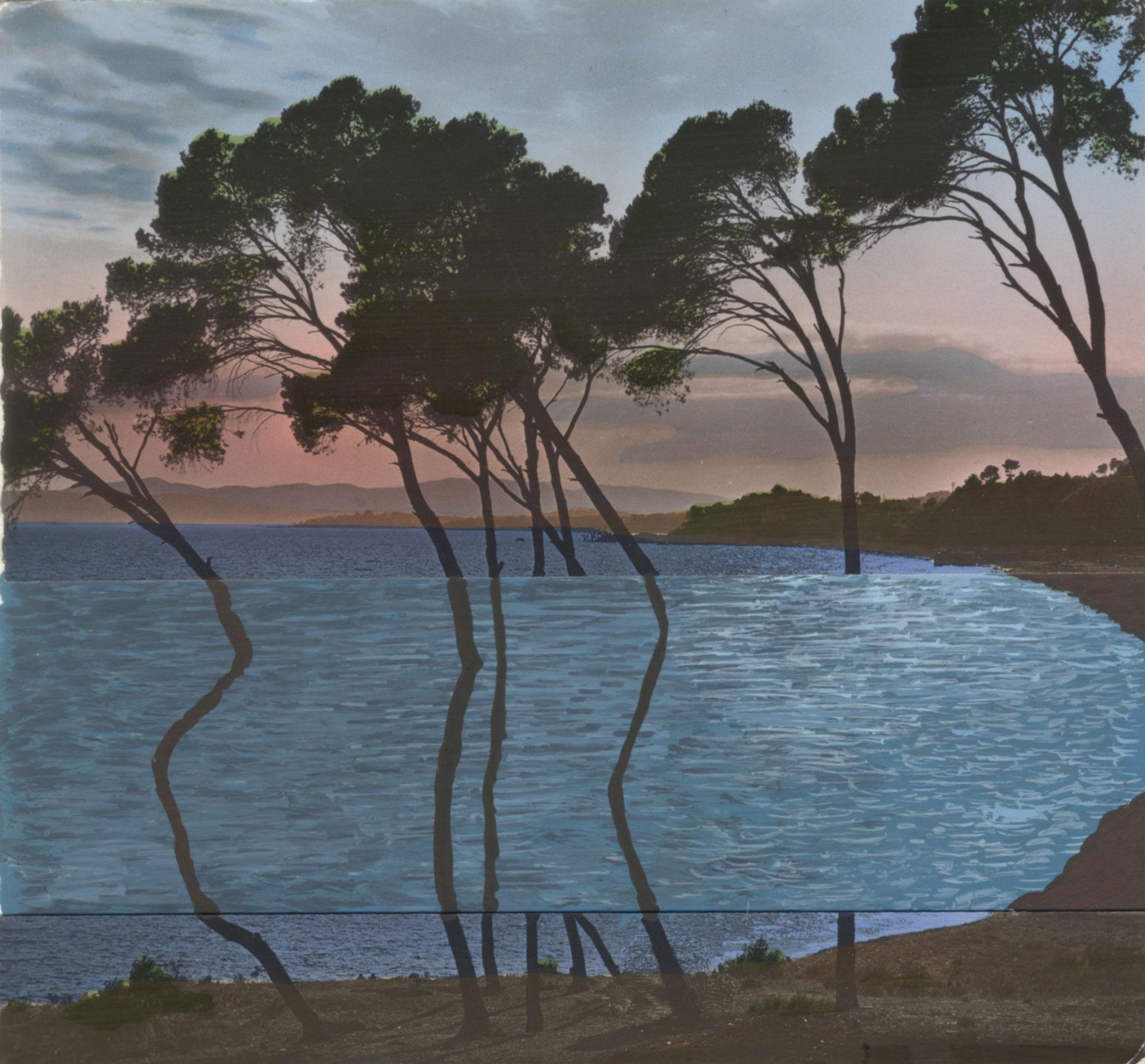 Mirages #20 Dessin sur carte postale, de Céline Dominiak