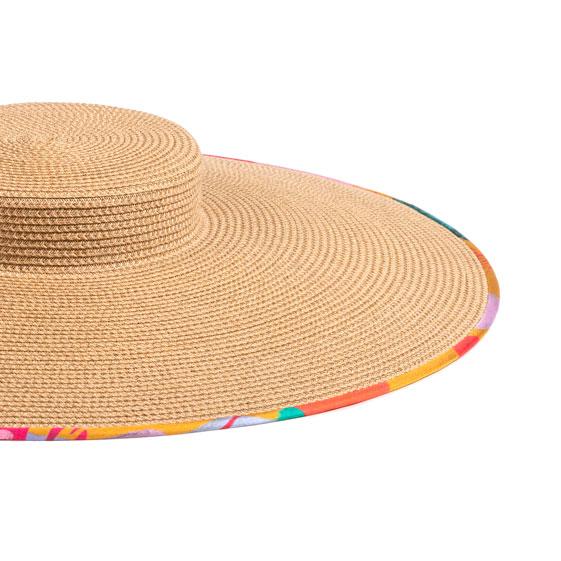 Détails chapeau en paille et biais sur mesure (Céline Dominiak x Mademoiselle Chapeaux)