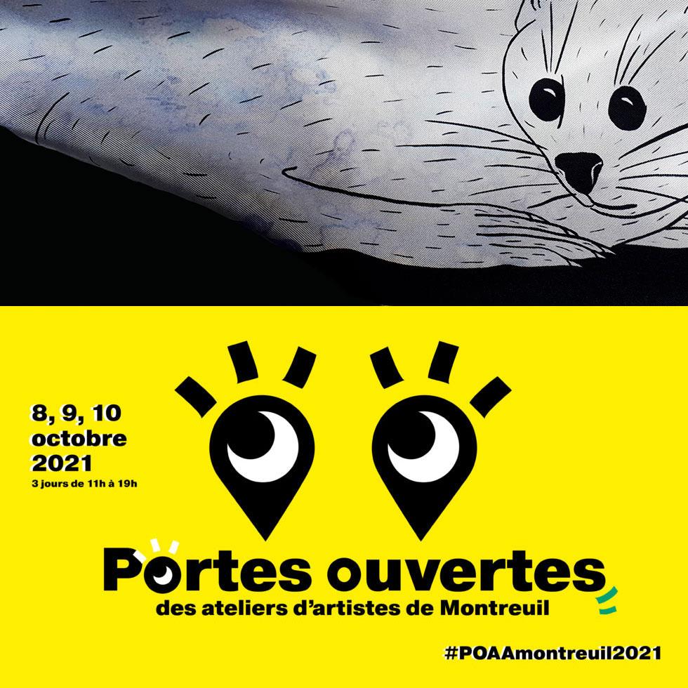 Flyer portes ouvertes Montreuil 8, 9 et 10 octobre 2021